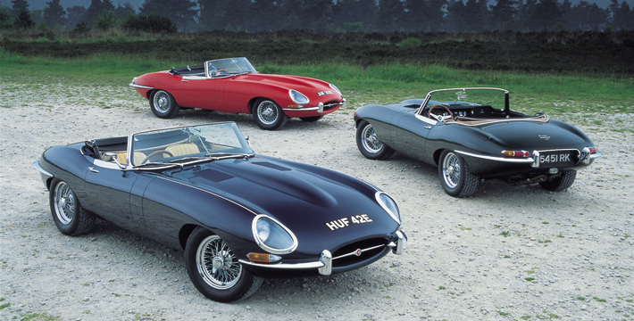Eagle E-Types on Ashdown Forest