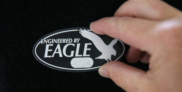 Eagle Engineered E-Type Badge