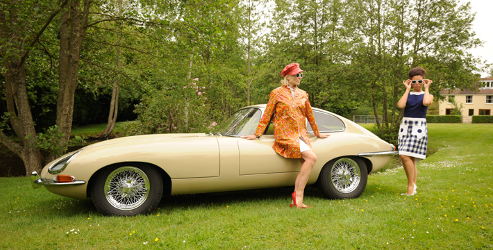 1967 E-Type Series 1 4.2 Coupe Fashion Shoot