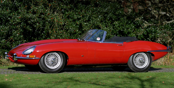 1961 E-Type Series 1 3.8 Roadster Side