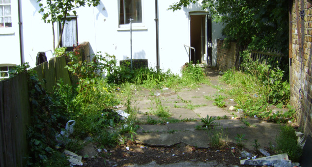 The original garden itself consisted of broken paving slabs and weeds and was very overlooked on all sides.