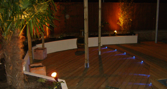 The lighting ensures that the garden can be used well into those long summer evenings.