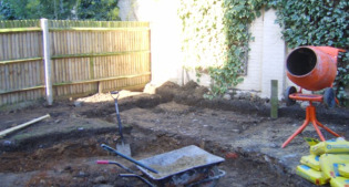 image of the garden of the new house before