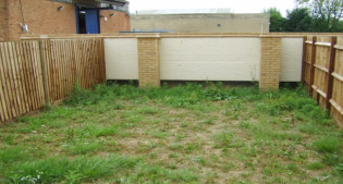 before image of the small suburban garden