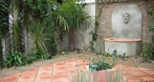 after image of mediterranean garden