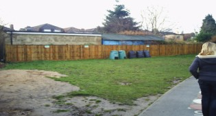 before image of the outdoor classroom