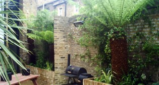 after image of the transformed courtyard garden