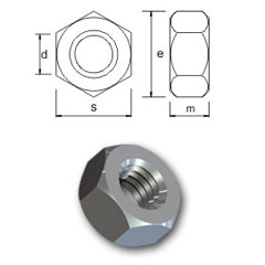 Bumax Hexagon Nut UNC