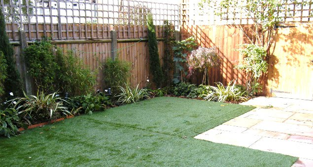 Artificial turf provides an excellent play surface without all the work of a natural lawn.