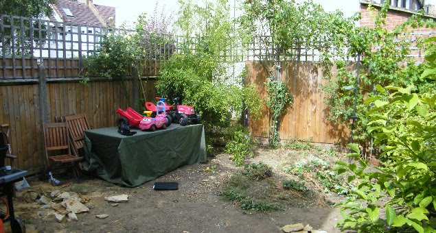 This is the garden before we arrived!