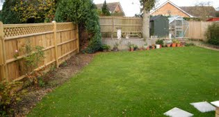image of the original small garden in Hailsham