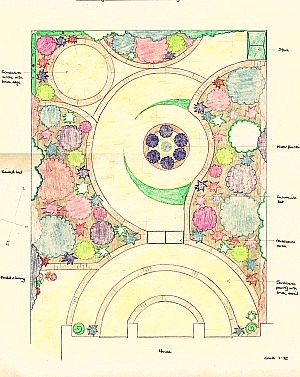 image of patio garden design courtyard garden design
