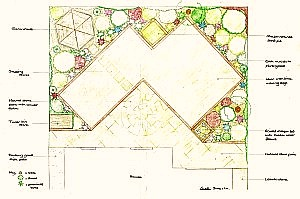 iimage of small design for a new-build garden
