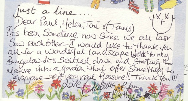 A note from our very happy client