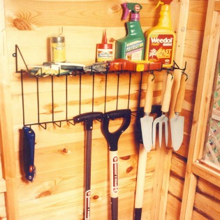 image of garden tool rack