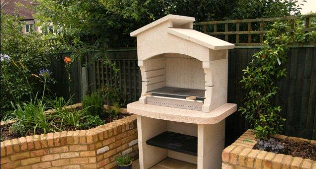 We included a barbecue chimney that was built in situ