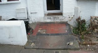 image of the original front step