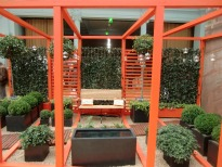 picture of contemporary pergola structure