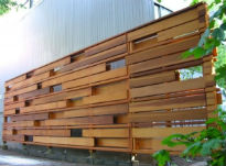 picture of contemporary cedar trellis