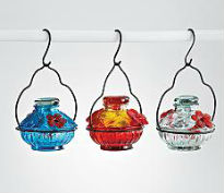 picture of recycled bird feeders