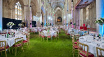 picture of tables at York Minster