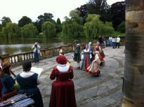 picture of Tudor costume at Hever Castle