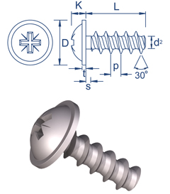 Flange head 30 screws - PoziDriv®