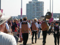 picture of umpires at Olympic Park