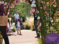 picture of arch leading to Great British Garden at Olympic Park
