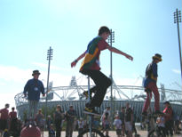 picture of entertainers at Olympic Park