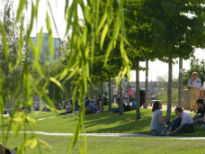 picture of people at Olympic Park