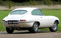time warp Jaguar E-Type 3.8 coupe for sale from Eagle