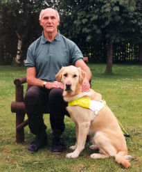 picture of seeing eye dog and owner