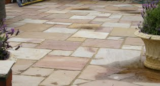 image of the paving on the new terrace