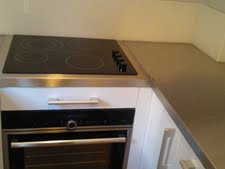 stainless steel worktop covers showing original electric hob