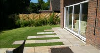 image of the new paved rear garden