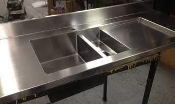 Stainless Steel Commercial Kitchen Sinks Stainless steel for all your fully welded sink drainer requirements fully welded sink drainer with upstand workwithnaturefo