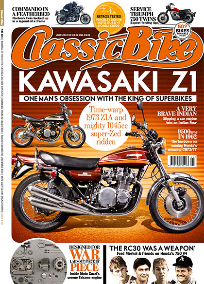 Paul Brace's modified Kawasaki Z1A photographed here for Classic Motorcycle Magazine