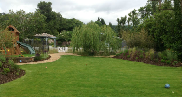 The new view of the garden from the house