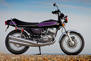 Mint restored Kawasaki H2C 750 triple for sale from Paul Brace Proper Bikes in the UK