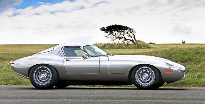 The Eagle Low Drag Coupe Jaguar E-Type in aluminium with 4.7 litre fuel injected engine