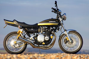 Kawasaki Z1A special. A restored and upgraded Z1900 created by Paul Brace of Proper bikes. he is the designer of the Eagle Speedster.