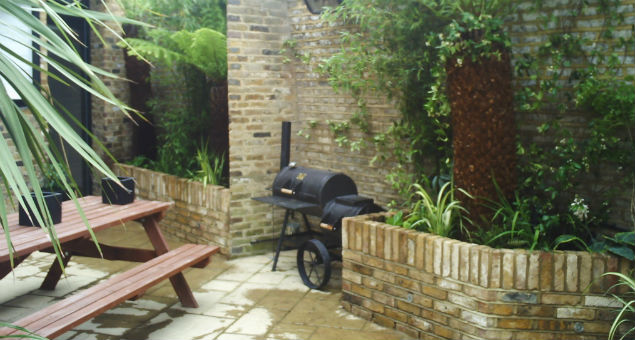 We needed to incorporate our client's bespoke smoker/barbecue