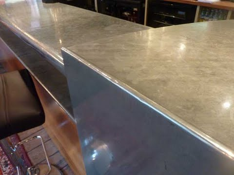 Zinc worktops for bars, restaurants and domestic kitchens