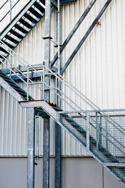 Stainless Steel For The Emergency Exit Staircase Sector