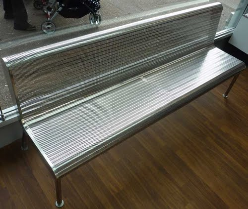 Stainless steel bench seating for the UK restaurant trade