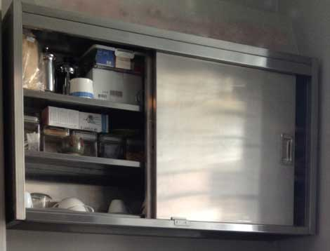 stainless steel for the kitchen wall cabinet sector