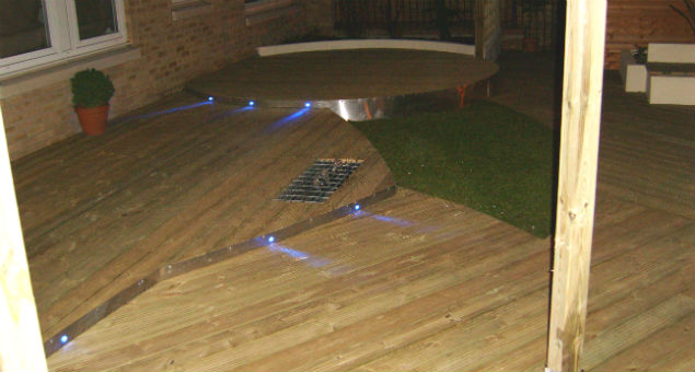The lights also make sure the steps can be seen at night