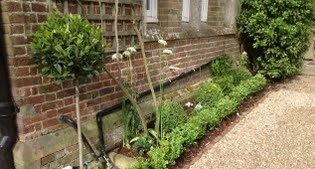 New front garden for listed building