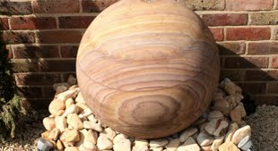 Contemporary design sandstone orb water feature